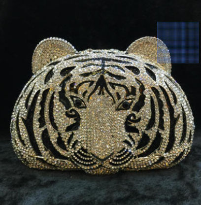 Free Shipping Women's Crystal Evening bag Retro Tiger Clutch Bags Wedding Diamond Beaded Bag Rhinestone Small Shoulder Bags gold free shipping 2015 top gifts new bride rhinestone evening bags punk colored acrylic diamonds clutch bag shoulder handbags 0430