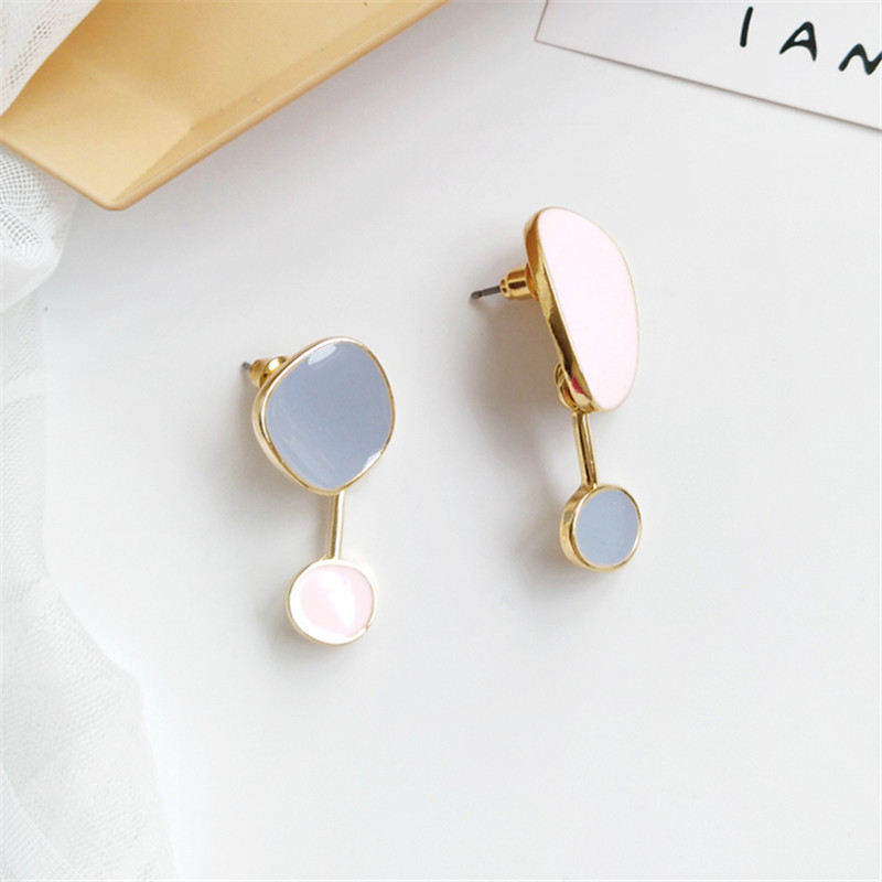 Contracted temperament new earrings bump color female  earrings irregular earrings earrings restoring ancient ways 3