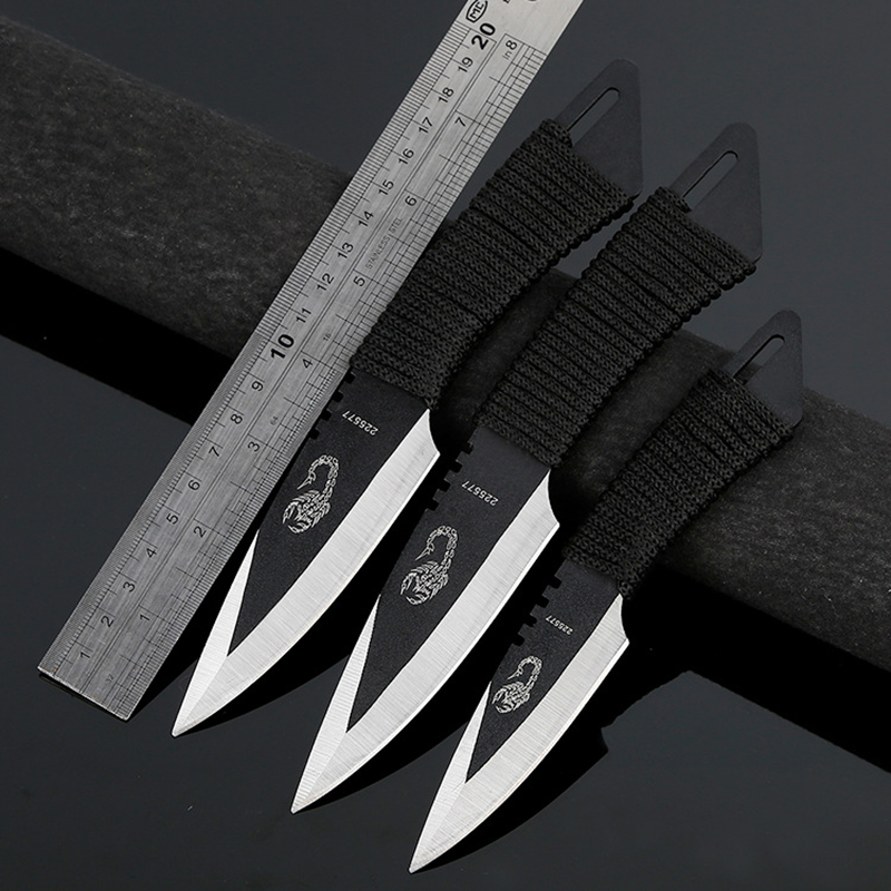 CS COLD فولاد Karambit Pocket Knife Tactical Fixed Knife Survival Outdoor Hunting Camping Knives Camping ابزار نجات + غلاف
