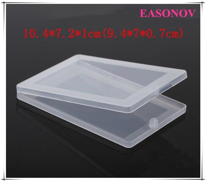 New transparent plastic rectangular card case flip U flat