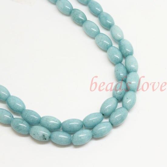 1Strand 16(43pcs)Natural stone Blue Amazonite Loose Beads 6mm*9mm (W02979)Free Shipping