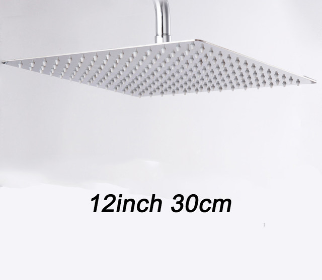 Online Shop Square Rainfall Shower Head with Shower Arm Bottom ...
