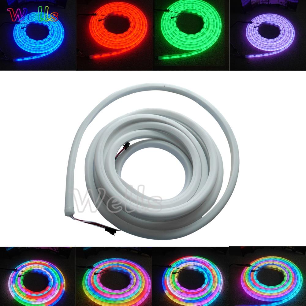 5 m/Roll WS2812B 30/60 LED/m WS2811 SK6822 flex néon numérique rvb couleur de rêve LED lumière de pixel
