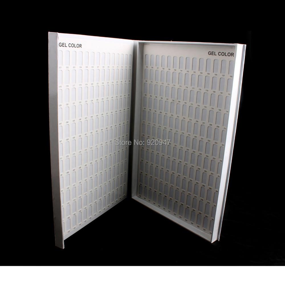 Profissional 308 Cores Unhas de Gel Polonês Chart Exibição Livro para Nail Art Salon Nail art UV gel Cartão de Cor