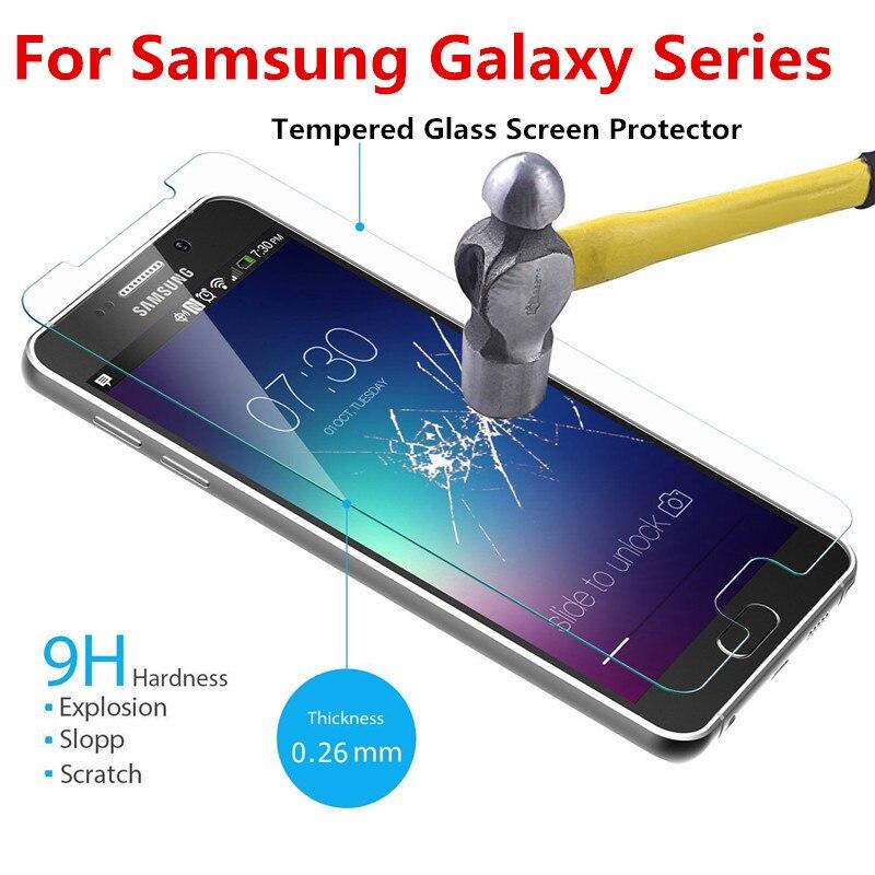 Экран протектор Закаленное Стекло для <font><b>Samsung</b></font> Galaxy S7 S6 S4 J1 J3 J5 <font><b>J7</b></font> 2017 Примечание 5 4 3 A3 a5 A7 2016 2017 протектор гвардии Плёнки