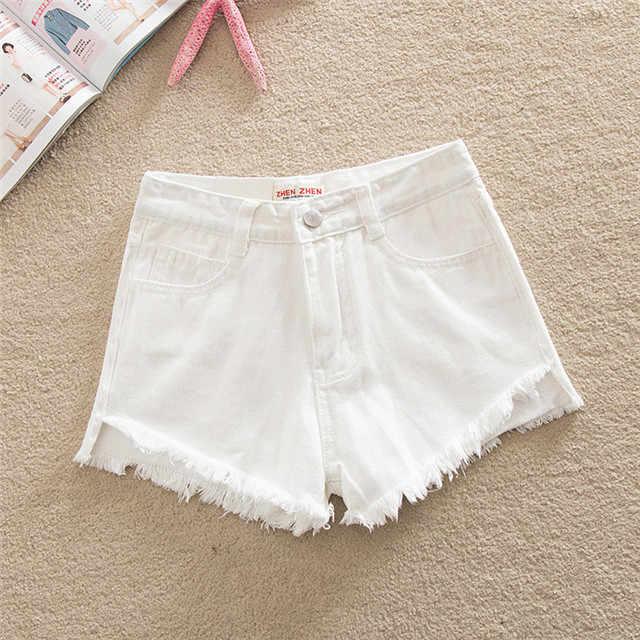 2019 nowy elegancki zgrywanie Hem spodenki jeansowe lato w połowie talii zamek błyskawiczny latać na co dzień kobieta spodnie i spódnice proste nogawki luźne spodenki Jeans