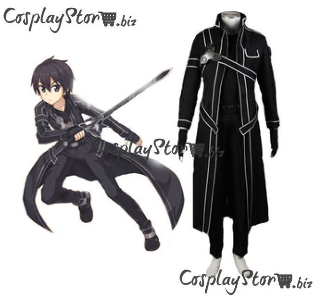 sword art online kirito cosplay costume