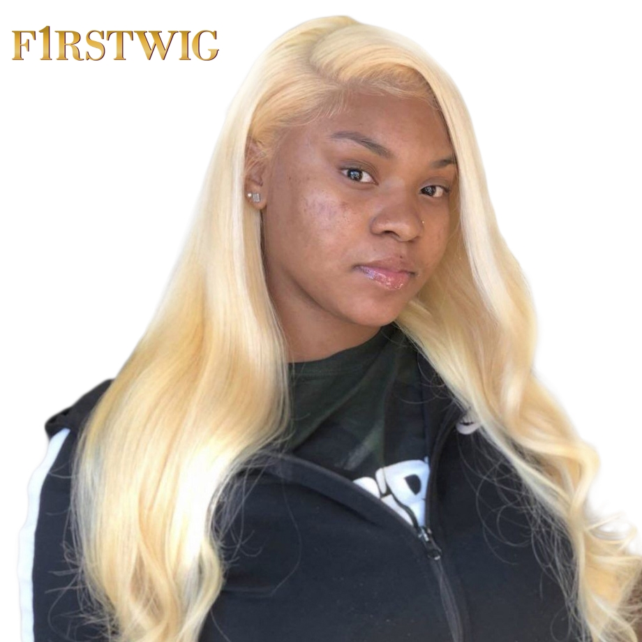 FirstWig Blonde Lace Front Wig 613 Human Hair Wigs for black women Pre Plucked With Baby