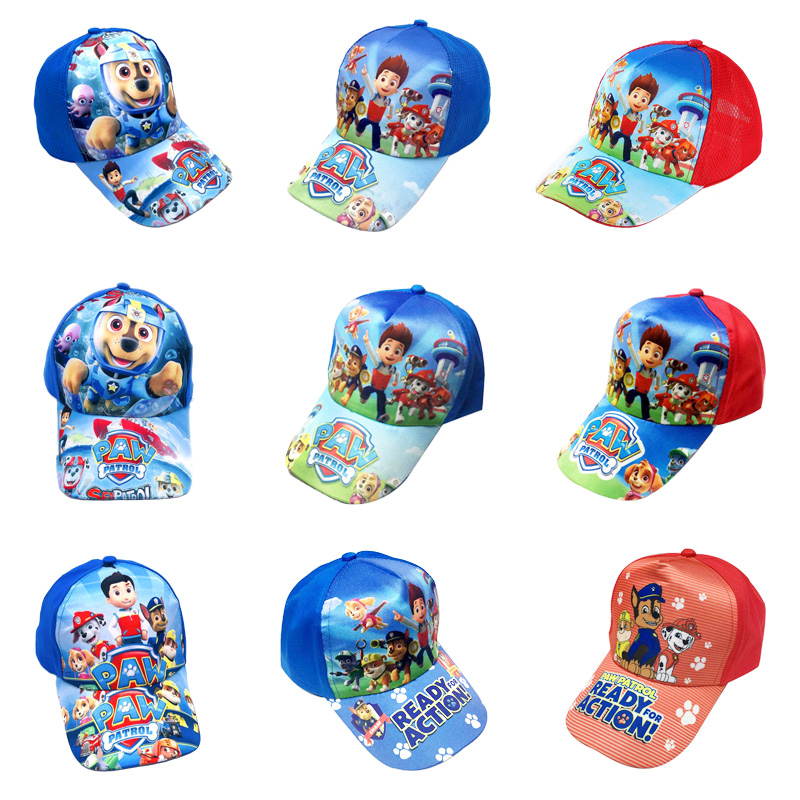 Paw Patrol Patrulla Canina Style Design Puppy Patrol Pattern Leisure Boy Girl Hip Hop Cap Snapback Hat Kids Gift Toy