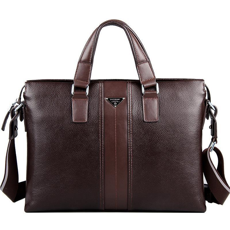 brand P.kuone genuine cow leather real Cowhide men's brown black business computer laptop shoulder bag  briefcase handbag Male brand p kuone genuine cow leather real cowhide men s brown black business computer laptop shoulder bag briefcase handbag male
