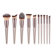 цена на For Cosmetic Face Contour Makeup Brushes Foundation Powder Blush Eyeshadow Concealer Make Up Brush tool Luxury Champagne hot1