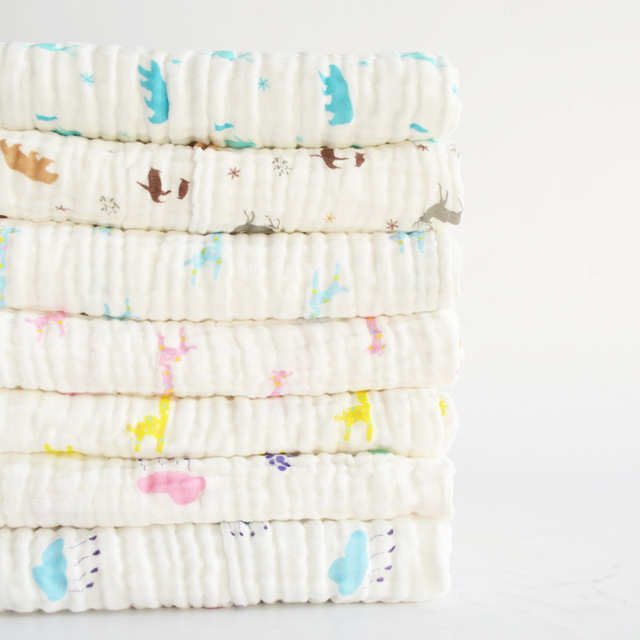100% Cotton Breathable Wrap Infant Blanket Kids Swaddling Bebe Towl 7 Style Summer Cover