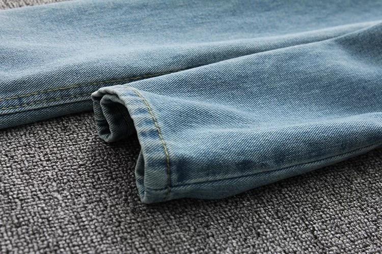 19 korean style women pencil denim pants high waist jeans woman casual vintage jeans boyfriend mom jeans light blue streetwear 19