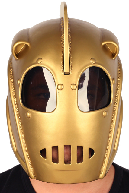The Rocketeer Helmet Cliff Secord Mask Resin Full Head Helmet Movie Cosplay Props XCOSER Custom Made for Halloween