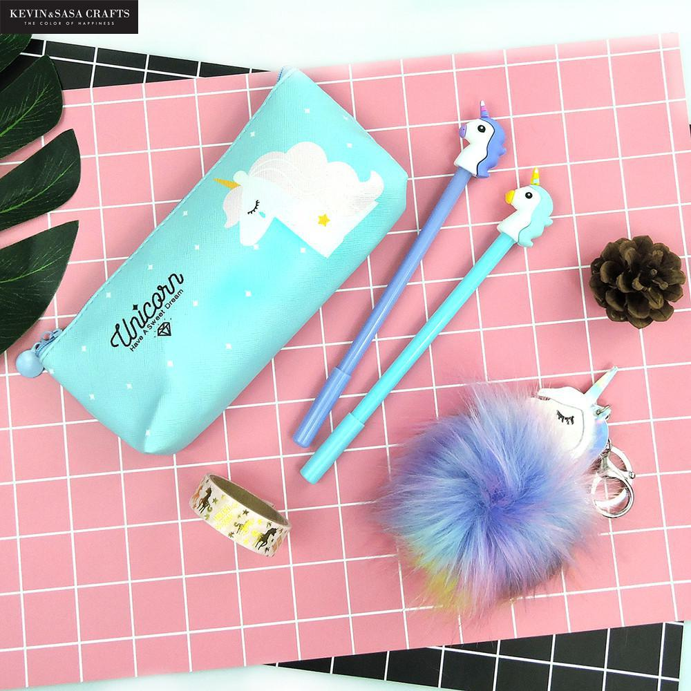 Unicorn Pencil Case Set Quality PU School Supplies Bts Stationery Gift Set Pencilcase School Cute Pencil Box Bts School Tools unicorn pencil case kawaii school supplies bts stationery gift cute pencil box pencilcase office school tools pencil cases tools