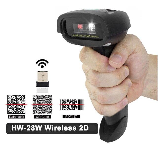 QR Scanner de código Barras E L28BT 2D L28W Sem Fio Bluetooth 1D/2D PDF417  Bar CODE Reader para Android IOS IPAD