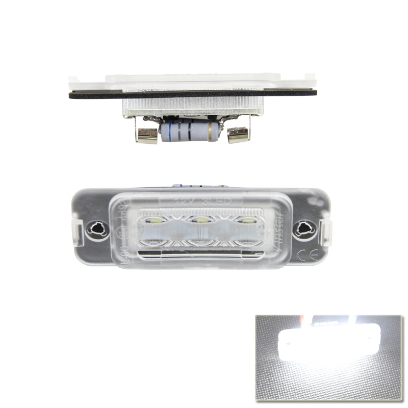 2PCs/Lot Error Free Direct Fit Led Number License Plate Lights Lamp For Benz W251 R-Class W164 ML-Class  X164 GL-Class 2pcs lot 24 smd car led license plate light lamp error free canbus function white 6000k for bmw e39 e60 e61 e70 e82 e90 e92