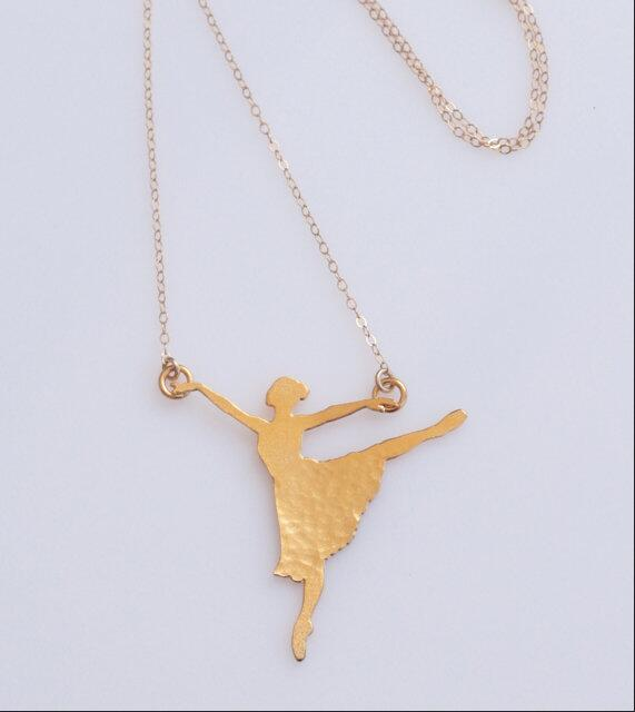 Gold ballerina necklace ballet dancer silhouette charm dancer gold ballerina necklace ballet dancer silhouette charm dancer necklace dance lover gift mozeypictures Image collections