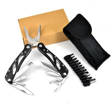 24 In 1 Multitool Pliers Wire Cutter Stripper Crimping Tool Multifunctional Camping Survival Folding Knife With Screwdriver Kit