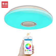 LED Bluetooth Music ceiling light 24W/36W  APP control living room/bedroom/study Dimmable modern ceiling lights led 200-265V