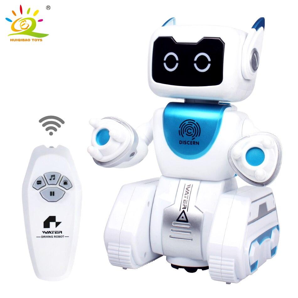 HUIQIBAO jouets eau conduite RC Robot danse voix électronique musique intelligente télécommande Action figure jouet pour enfants enfants