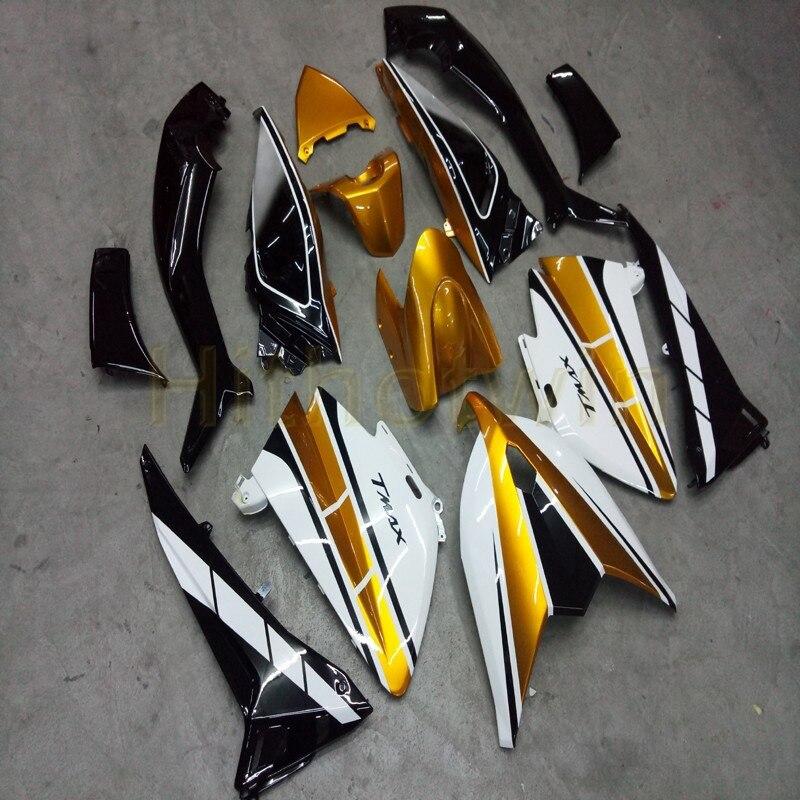 Personnalisé + Injection moule or noir blanc ABS MAX 500 2012-2014 moto corps kit pour Yamaha MAX500 2012 2013 2014 année carénage