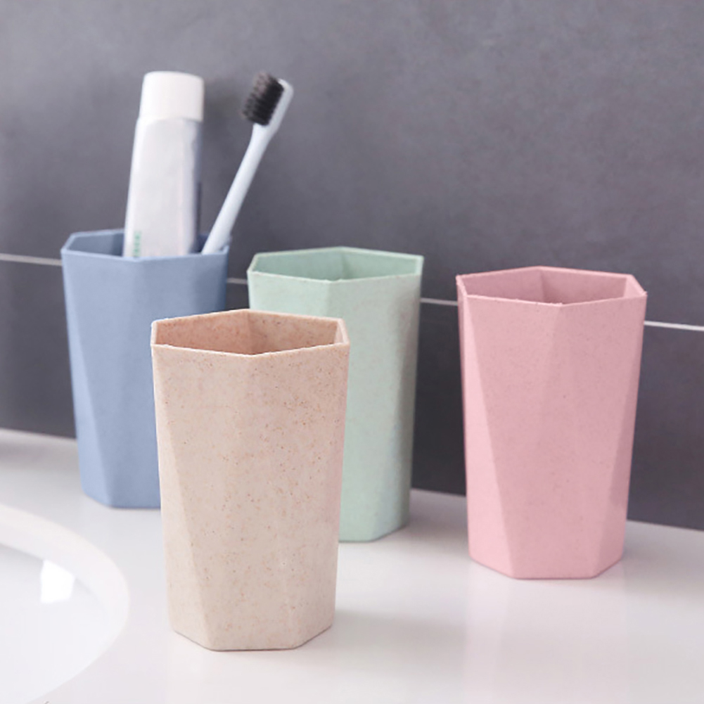 Eco-friendly Wheat Straw Gargle Mug Tooth Brush Home Travel 22