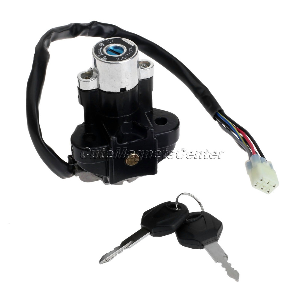Aluminum Motorcycle Ignition Switch Lock with Keys for Suzuki GSXR 600 750 GSX-R600 GSX-R750 Pitbike Scooter Motorbike Parts Cdi image