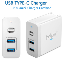 USB C Charger Adapter Power Delivery QC 3 0 Type C PD 3 Port Fast Charger