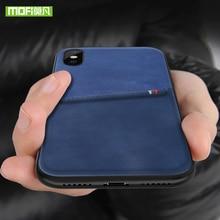MOFi آيفون 7 8 X حقيبة لهاتف أي فون 7 8 Plus حقيبة بطاقة حقيبة لهاتف أي فون X 10 حافظة PU محفظة جلدية فاخرة بطاقة الغلاف الخلفي