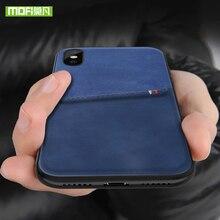 MOFi Pour iPhone 7 8 X étui pour iPhone 7 8 Plus Sac Carte étui pour iPhone X 10 Housse de Luxe En Cuir PU Portefeuille Carte Couverture Arrière