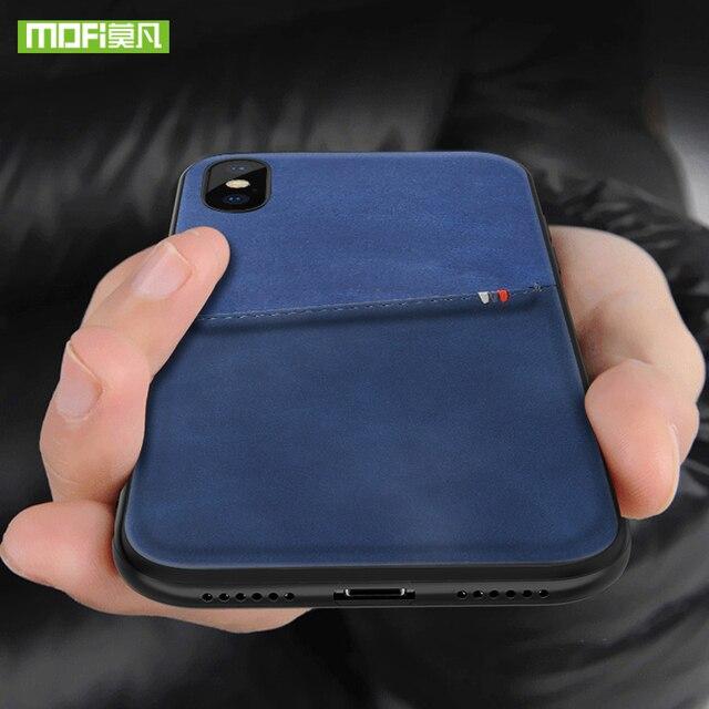 MOFi dla iPhone 7 8 X etui na iPhone 7 8 Plus torba etui na karty etui dla iphonea X 10 skrzynki pokrywa PU skóra luksusowy portfel na karty tylna okładka