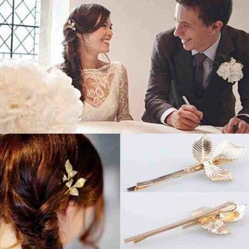 1 piezas nueva nupcial de la boda de la hoja de oro de la rama de la Perla del pelo de la horquilla Tiara joyería de las señoras del pelo de las muchachas del regalo