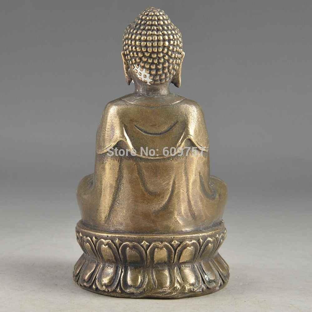 レア運ハンドハンマー祝福コレクタブル中国真鍮古いお守り仏像ギフトアートブロンズ本銅