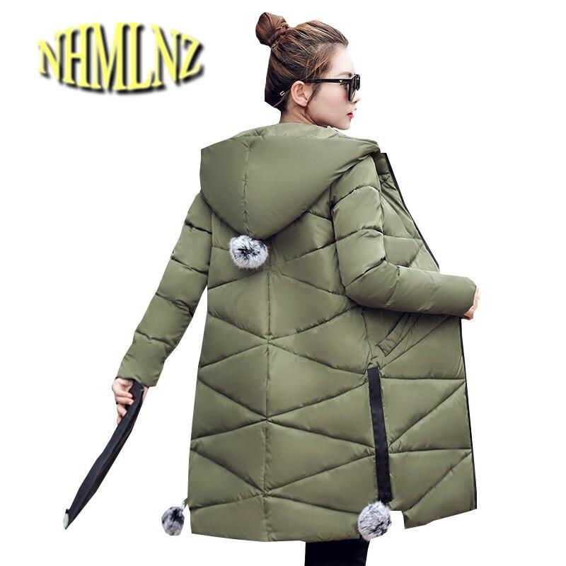 New Winter Collection 2017 Women Winter Jacket Warm Women Season Winter High Quality Coat Europe Style Thick Long Overcoat ok269