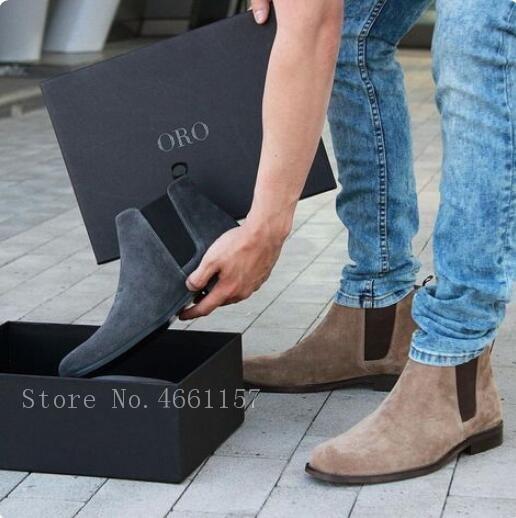 Zapatos Pic Chelsea Botas as Superior En Alta Top Banda 46 La Pic Elástica Los Mujer Slip As Tobillo Ocio De Vaca Ante Pisos Calidad Hombres Botines wTfAS4Xq