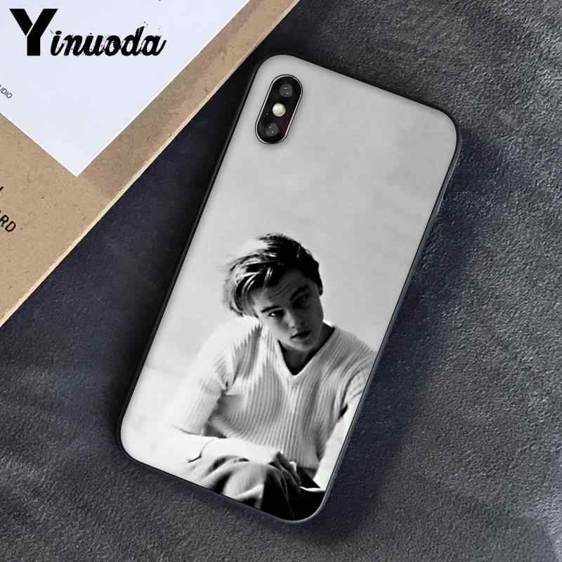 Yinuoda young leo Young Leonardo DiCaprio being suave Coque Shell чехол для телефона iPhone 8 7 6 S 6 Plus X XSMAX 5 5S SE XR Fundas