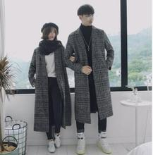 Fashion Casual Mens Coat Autumn And Winter New S-3XL Stripes Long Section Loose Windbreaker Gray Personality Youth Popular
