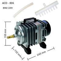 ACO 006 Electromagnetic Air Compressor aquarium air pump Fish Tank Oxygen AirPump 80W 220V 88L/min 0.030Mpa akvaryum air pump