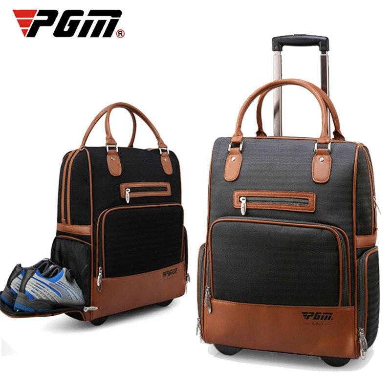 PGM nuevo Nylon PU bolsa de ropa de Golf bolsa de viaje duradera con rueda portátil para hombres y mujeres bolsas de ropa de Golf