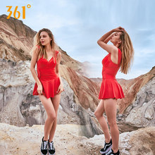 361 Black One Piece Swimsuit Women Underwire Push Up Skirt Swimming Suit Red Sexy Sport Swim Female Pool Hot Sprint Bathing