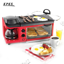 Home multi-functional breakfast machine toast / cook coffee omelette triple multi-functiona 110/220V
