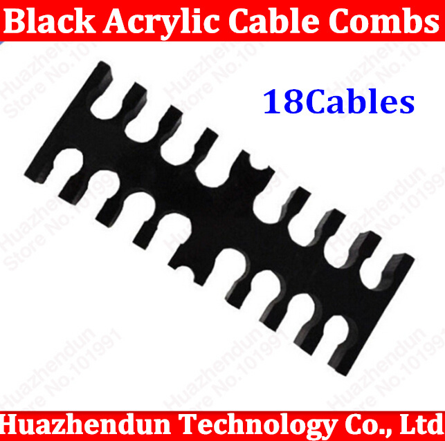 High Quality Black Acrylic Cable Combs for 3mm Cables 16(8+8)  Cable Comb Free shipping 16PIN chuxin solid wood 3 anti static combs kit with cask 3 sizes beech combs with massage function for scalp oval sculpt