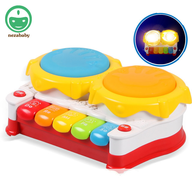 Baby multifunctional hand drum burped drum music child piano baby toy 0-1 year old Игрушка