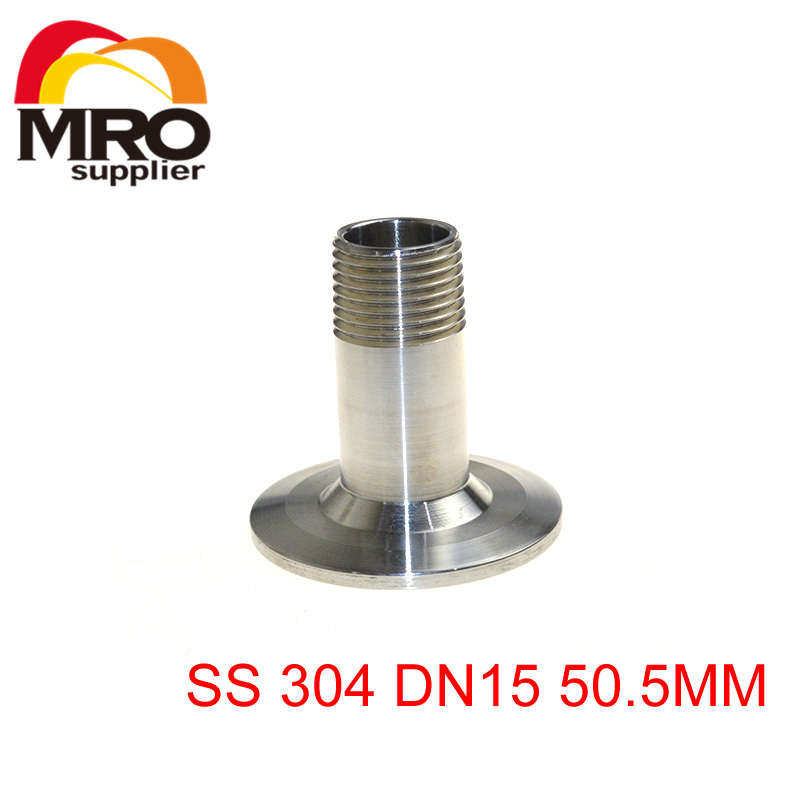 1/2 DN15 Sanitary Male Threaded Ferrule Pipe Fitting Tri Clamp Type Stainless Steel SS304 SS001