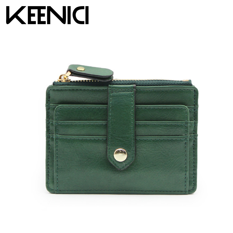 Simple Credit Card Coin Retro Women Wallet Purse Mini Clutch Multi-card Bit PU Leather Purses Card Holder Womens Wallets QL