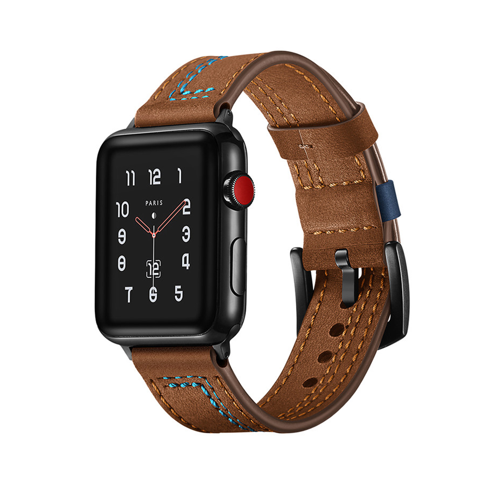 Leather strap for apple watch band 42mm 38mm iWatch 4 band 44mm/40mm Genuine Leather watchband belt bracelet Apple watch 4 3 21