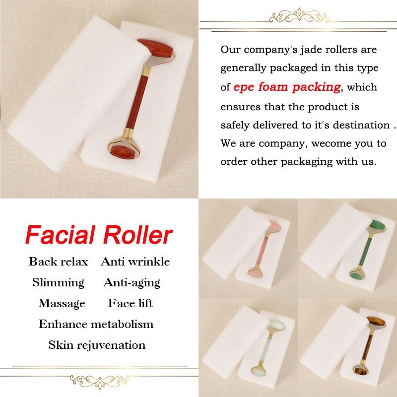Rolo de Jade Massagem Facial Natural Anti Celulite