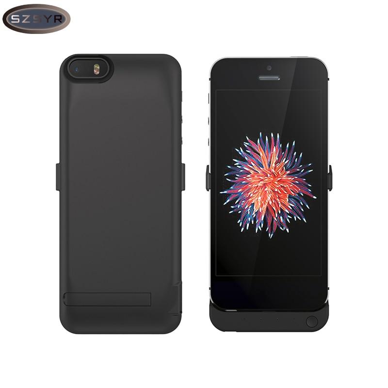 Цена за Половина Пакет Портативное Зарядное Устройство 4200 мАч Сотовые телефоны Обложка Аккумуляторная Внешний Корпус Резервная Батарея Для iPhone 5/5S SE Freeshipping