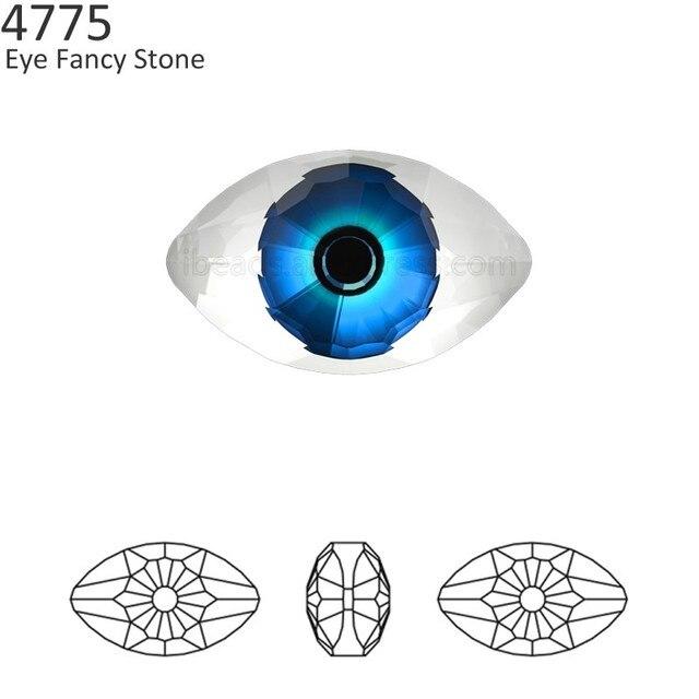 11539b3273 (1 piece) 100% Original Crystal from Swarovski 4775 Eye Fancy Stone made in  Austria loose beads rhinestone DIY jewelry making